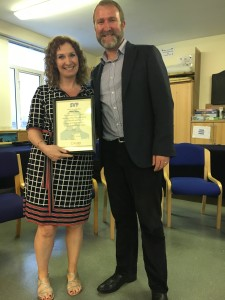Helen O'Broin who has been volunteering in Ozanam House for 8 years