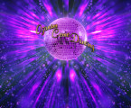 Landscape Dynamic background + focused disco ball
